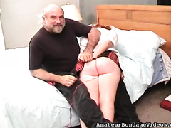 Chubby college white women in uniform gets her cum-hole toyed and her a-hole spanked
