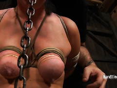 Unthinkably lustful nympho is having a hard time in this dungeon