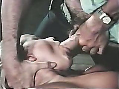 Hot golden-haired slutty wife blows shlong of a slim chap and makes him cum