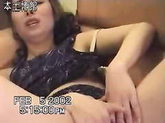 Trashy Chinese bimbo masturbates and then gives oral-stimulation sex to her paramour