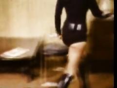 Vintage brunettes in BDSM domination lesbo sex scene