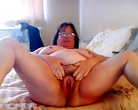 Raunchy looking mature woman loves flaunting her overweight body