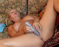 Salacious aged woman masturbates regularly when there is no one around