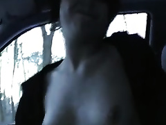My miniature tittied girlfriend gives me a valuable tugjob in my car