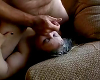 Lusty obese wife with biggest stomach receives her ju7ciy snatch screwed hard