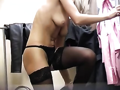 Horny college student has no idea she is being recorded