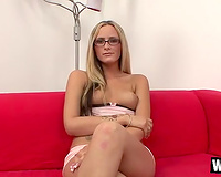 Stunning blond want to pass this casting and goes to great lengths