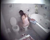 Slender girlfriend has no idea that I have hidden web camera there
