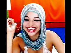 Webcam solo with an Arab hussy masturbating her shaggy bawdy cleft