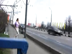 Lovely non-professional Russian hottie changes raiment after pissing in her pants