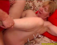 Mature blonde shows her blowjob skills and acquires her vag team-fucked unfathomable