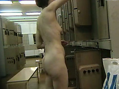 Locker room is the superlatively good place to spy on wicked women