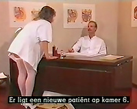 Slutty nurse seduces the Doctor for dirty sex in the office