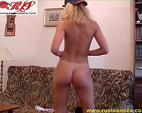 Hot masturbation solo of my shapely golden-haired Russian kitty