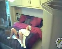 Homemade hidden cam desperate wife enjoys masturbating in the bedroom
