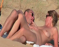 Hungry blond trollop sucks her hubby's pecker like a real pro