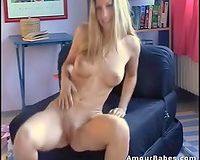 Amazing masturbation clip with beautiful golden-haired Kathy