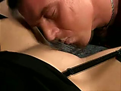 Chubby older cheating wife with raven hair gets her wet crack licked and nailed