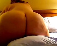 Incredible large older wazoo of my white cheating wife out of pants