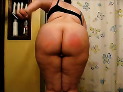 Homemade movie with plump me drubbing my a-hole ardently