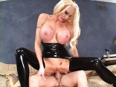 Filthy blond mother I'd like to fuck in latex is always in the mood for some coarse pounding