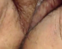 Finger banging my thick soaked cum-hole all the way to a rock hard agonorgasmos