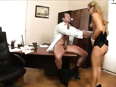 Hot secretary with fair hair gets her coochie nailed well