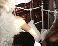 Two retro blondes share the prick of an exotic fellow