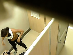 Three taut teenage chicks receive naked in locker room - hidden web camera