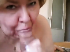 Insatiable granny sucks my rock hard schlong like there is no tomorrow