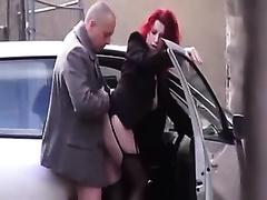 Hidden webcam clip of my boss fucking his secretary near a car