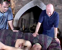 Blonde floozy cheating wife receives screwed on the ottoman during the time that hubby watches