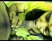 Indian dilettante sexy hotwife blows my dark ramrod on POV movie scene